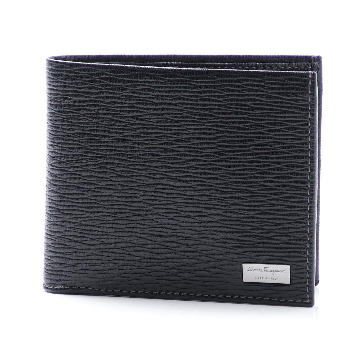 Salvatore Ferragamo Salvatore Ferragamo folio wallet black men black wallet gift pre-Saint accessory 667068 0351322 PEBBLE CALF ぺ Bullcalf