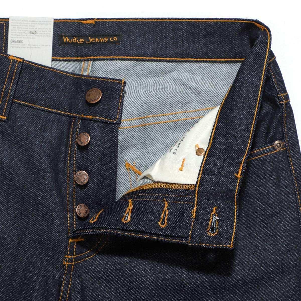 牛羚D牛仔裤nudie jeans co按钮油炸食品牛仔裤GRIM TIM SLIM REGULAR FIT DRY OPEN NAVY蓝色派grim tim 112223人