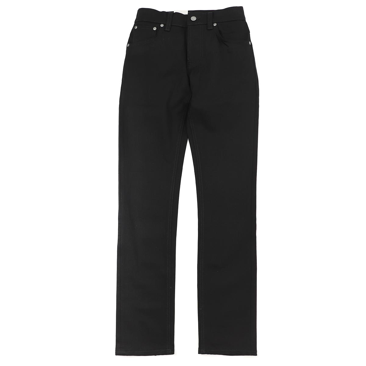 Nudie jeans nudie jeans co button fried food jeans GRIM TIM SLIM REGULAR FIT DRY COLD BLACK black system grim tim 112302 men