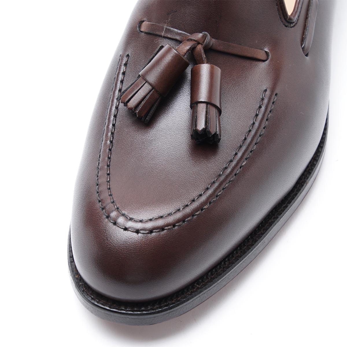 cavendish burnishedcalf darkbrown men in the Crockett & Jones CROCKETT&JONES tassel loafer CAVENDISH Cavendish E last in 325 of DARKBROWN Brown line
