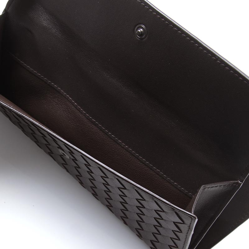134075 v001n 2006 Lady's of ボッテガヴェネタ BOTTEGA VENETA long wallet [with the coin purse] NAPPA espresso Brown line