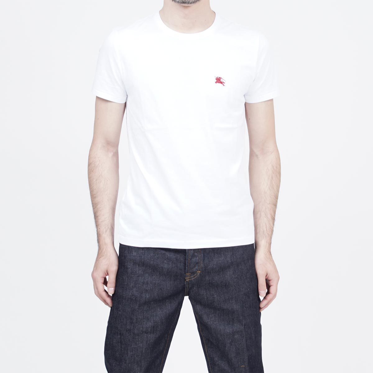 Burberry BURBERRY crew neck T-shirt WHITE white system 3962490 optic white men
