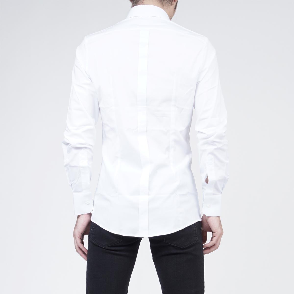 优美&gabbana DOLCE&GABBANA常规彩色衬衫衬衫GOLD黄金白白派g5dy4t fueaj w0800人