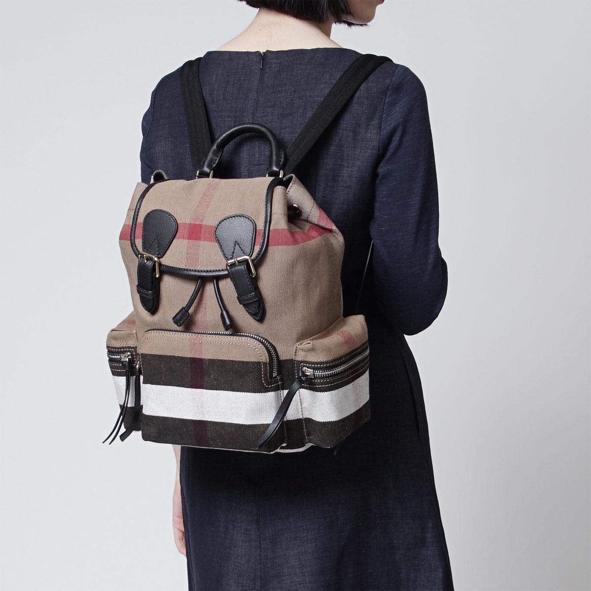 Burberry BURBERRY backpack rucksack MEDIUM BLACK black system 4030201 black Lady's