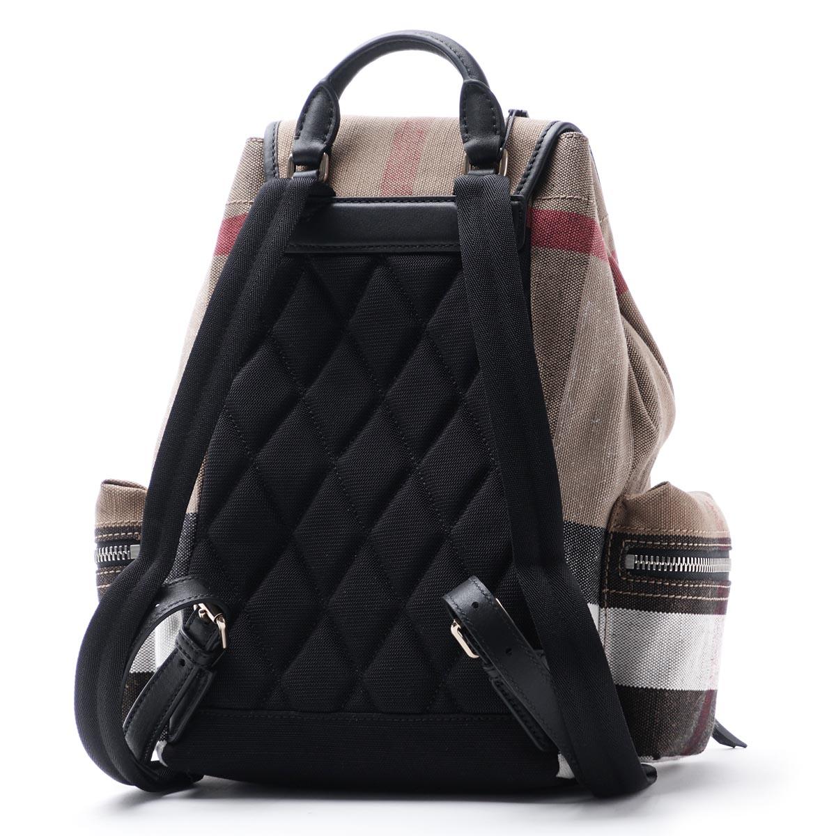 博柏利BURBERRY背包帆布背包MEDIUM BLACK黑色派4030201 black女士