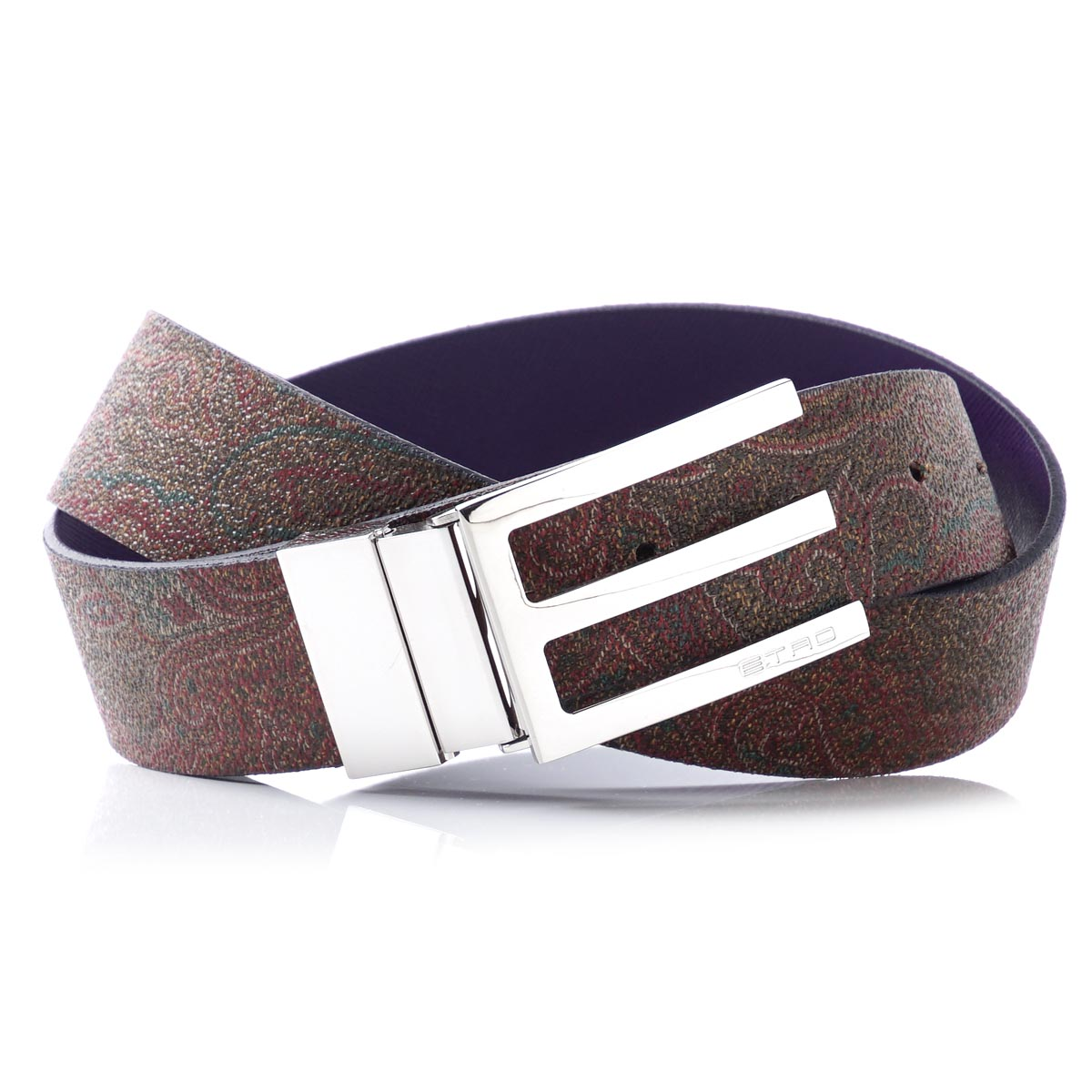 エトロ ETRO reversible belt bar Gandhi X purple-red system 15482 8182 400 men