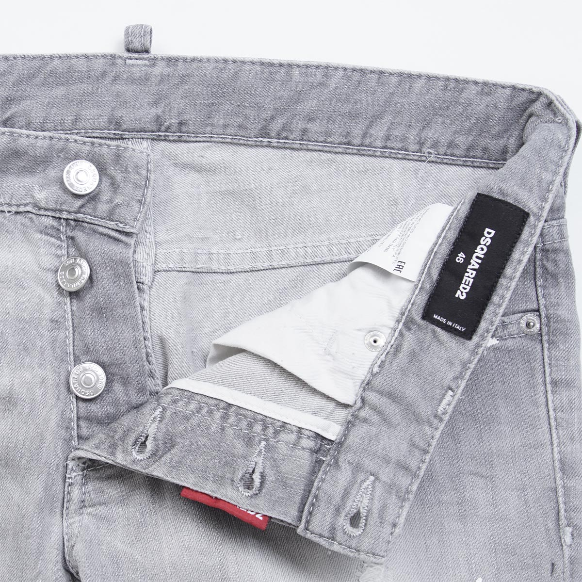 disukueado DSQUARED2按钮油炸食品牛仔裤SLIM JEAN纤细灰色灰色派s74lb0122 s30260 852人