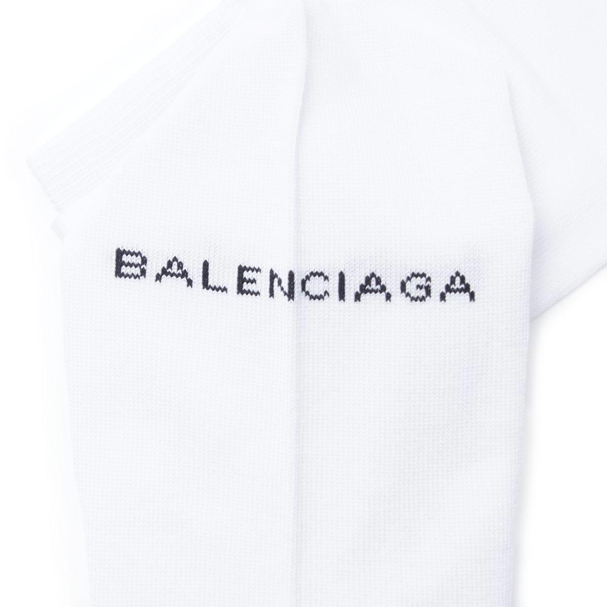 巴伦西亚蛾BALENCIAGA袜子短袜SOCK BALENCIAGA SHORT WHITE白派452467 468b8 9060人