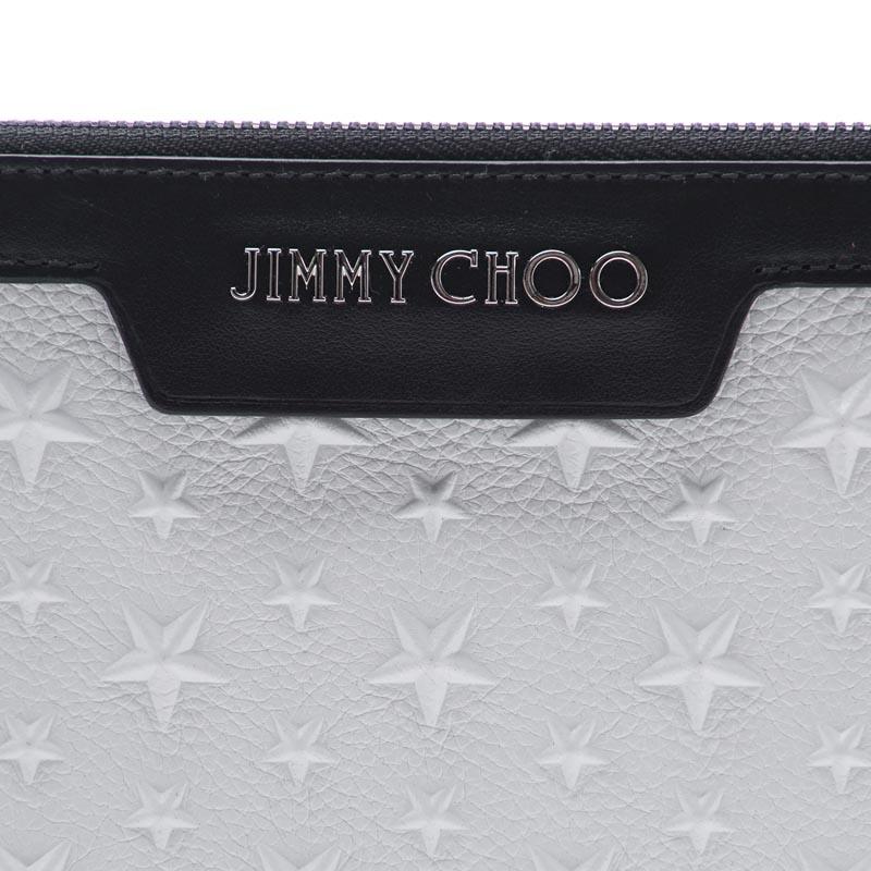 ジミーチュウバッグクラッチバッグメンズ small shark leather white JIMMY CHOO デレックミニ DEREK MINI CHALK derek mini emg chalk