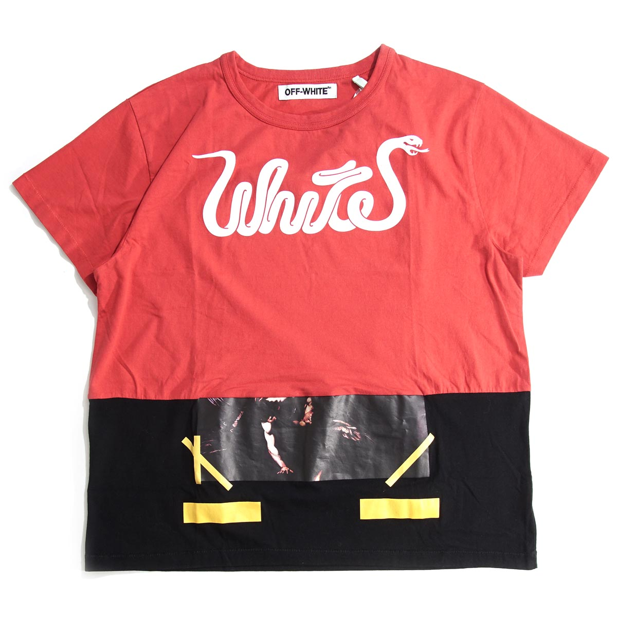 Off-white Off-White crew neck T-shirt WHITE PATCHWORK TEE omaa012f 16185056 men