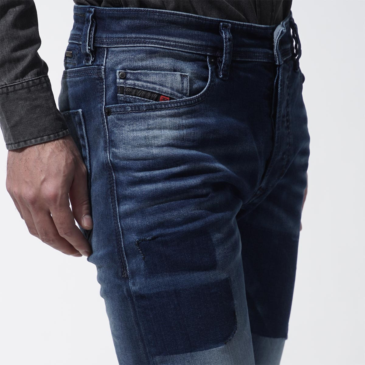 Diesel DIESEL button fried food jeans DIESEL DNA TEPPHAR SLIM CARROT indigo blue blue system tepphar 00ckri 084bw men