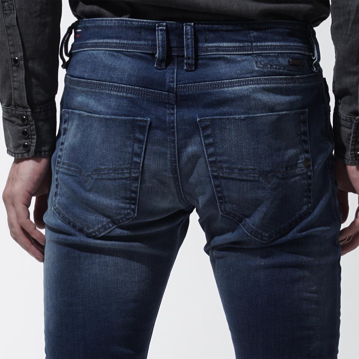 Diesel DIESEL button fried food jeans DIESEL DNA TEPPHAR SLIM CARROT indigo blue blue system tepphar 00ckri 084bw men