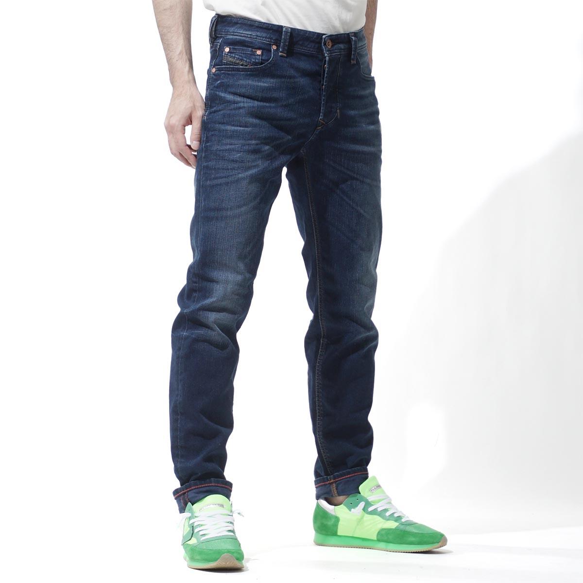 柴油DIESEL按鈕油炸食品牛仔褲LARKEE REGULAR STRAIGHT INDIGO藍色派larkee beex 00su1x 084dr人