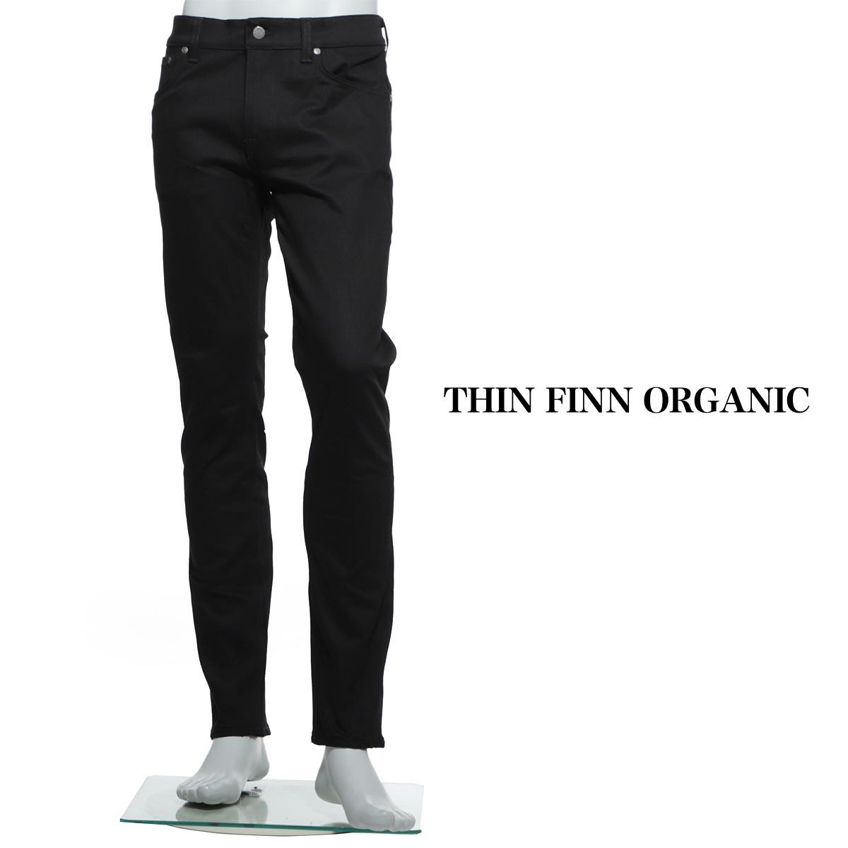 ヌーディ―ジーンズ nudie jeans co ジップフライジーンズ ブラック メンズ コットン thin finn 112303 THIN FINN ORGANIC 【あす楽対応_関東】【返品送料無料】【ラッピング無料】【190211】