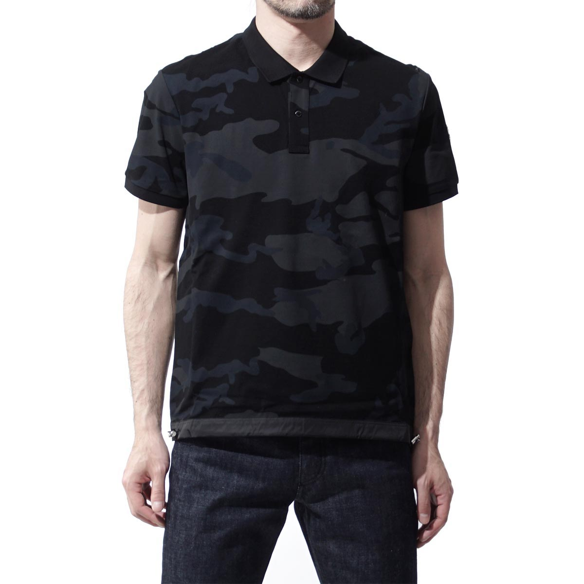 Monk rail MONCLER polo shirt men tops cut-and-sew short sleeves cotton