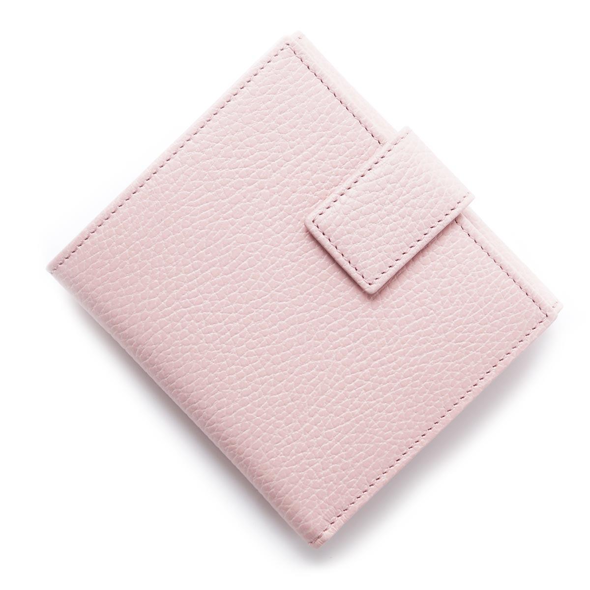 古驰GUCCI 2个机会钱包[有硬币袋]PETITE MARMONT LEATHER粉红粉红派456122 cao0g 5909女士