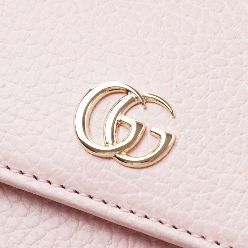 古馳GUCCI 2個機會錢包[有硬幣袋]PETITE MARMONT LEATHER粉紅粉紅派456122 cao0g 5909女士