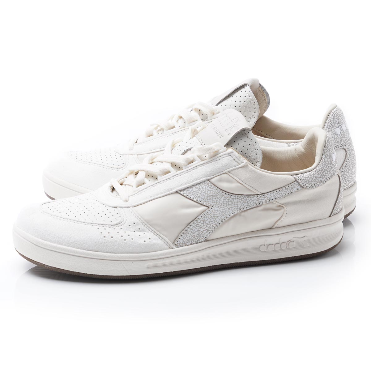 diadora diadora HERITAGE運動鞋B.ELITE ITA WHITE PACK WHISPERWHITE淺駝色派b elite ita white pack 171904 20009人