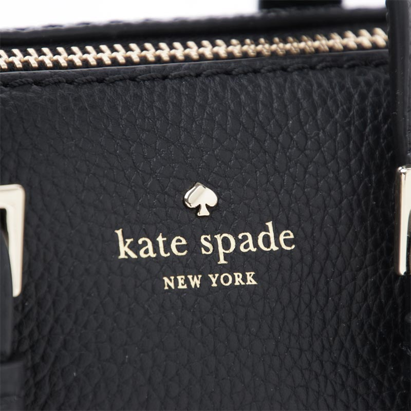 凯特黑桃Kate Spade宽底旅行皮包(2WAY式样)ORCHARD STREET CHARLIE LEATHER BLACK黑色派charlie pxru7623 001女士