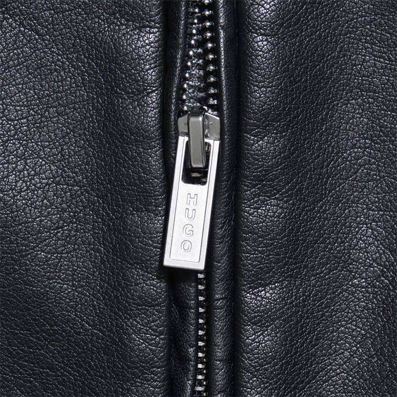 Hugo Boss HUGO HUGOBOSS riders jacket leather blouson LEMY Remy BLACK black system lemy 50331143 001 men