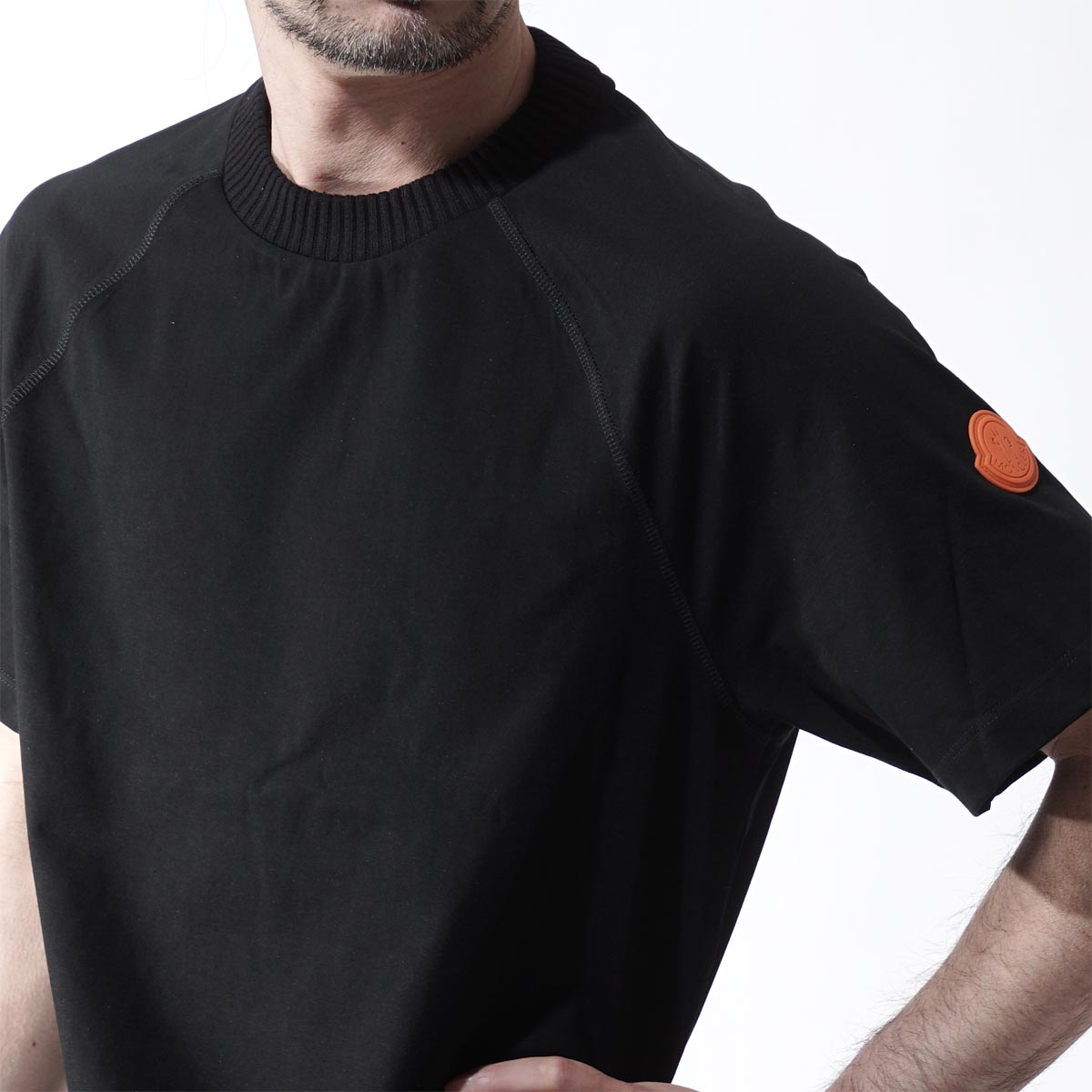 僧侣轨道O MONCLER O圆领针织T恤顶端人短袖棉布