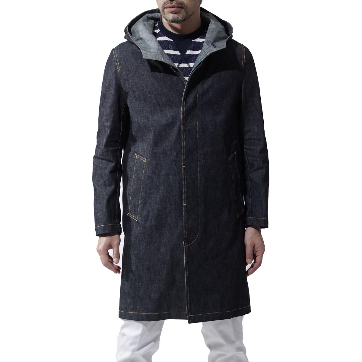 蘋果機MACKINTOSH粗斜紋布誰死亡大衣風衣GENTS D-MC007 7E16 REF:TPP7881 INDIGORIGID藍色派d mc007 d01人