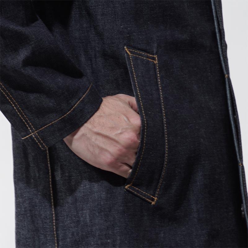 苹果机MACKINTOSH粗斜纹布谁死亡大衣风衣GENTS D-MC007 7E16 REF:TPP7881 INDIGORIGID蓝色派d mc007 d01人