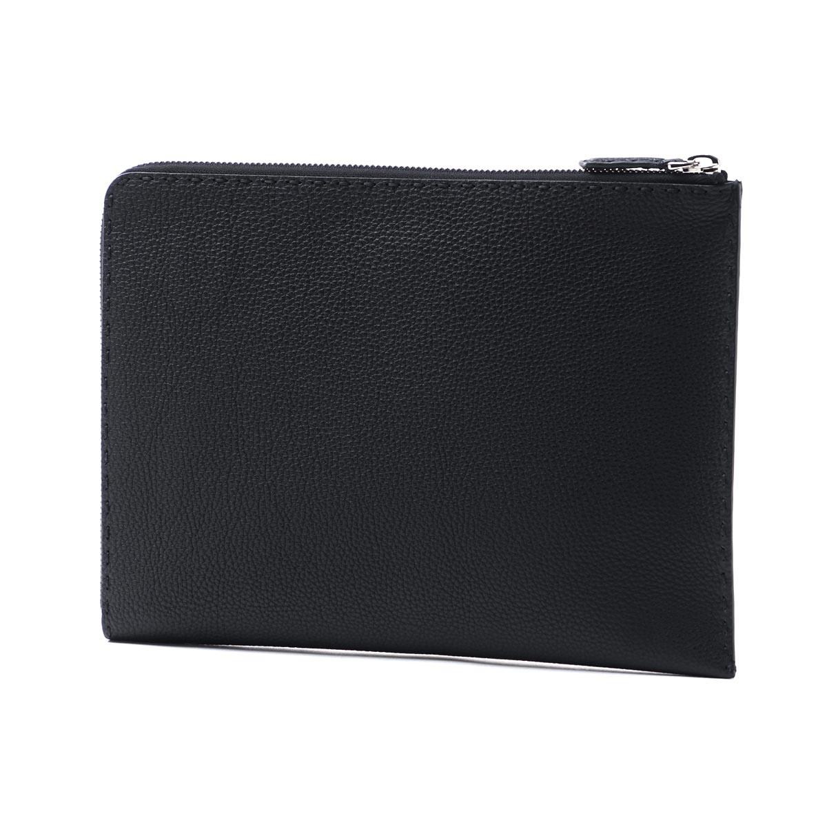 芬迪FENDI離合器袋ROMANO BLACK黑色派7m0225 o7n f0gxn人