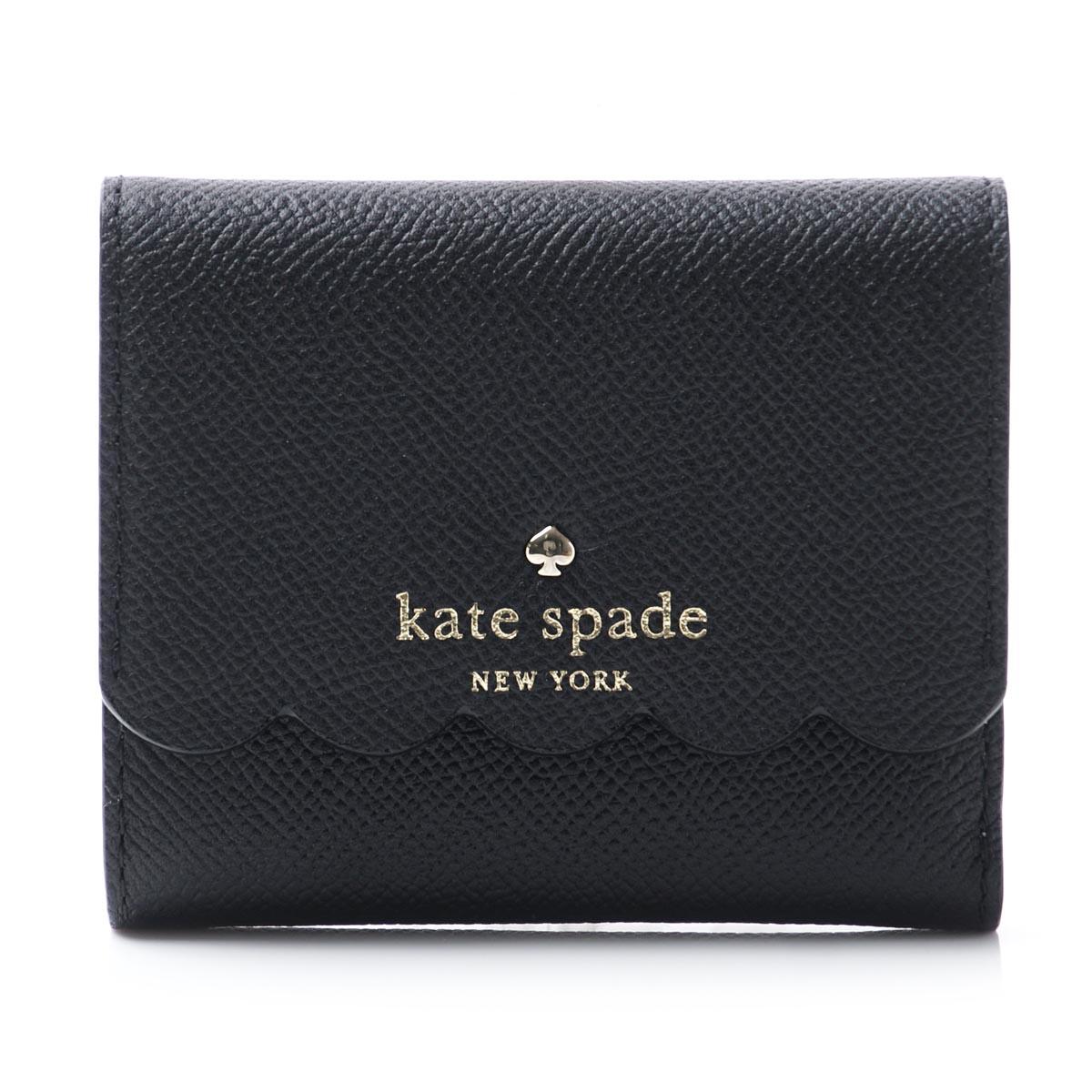 有凱特黑桃Kate Spade 3個機會錢包硬幣袋的MORRIS LANE JADA LEATHER BLACK×CEMENT黑色派jada pwru5558 067女士