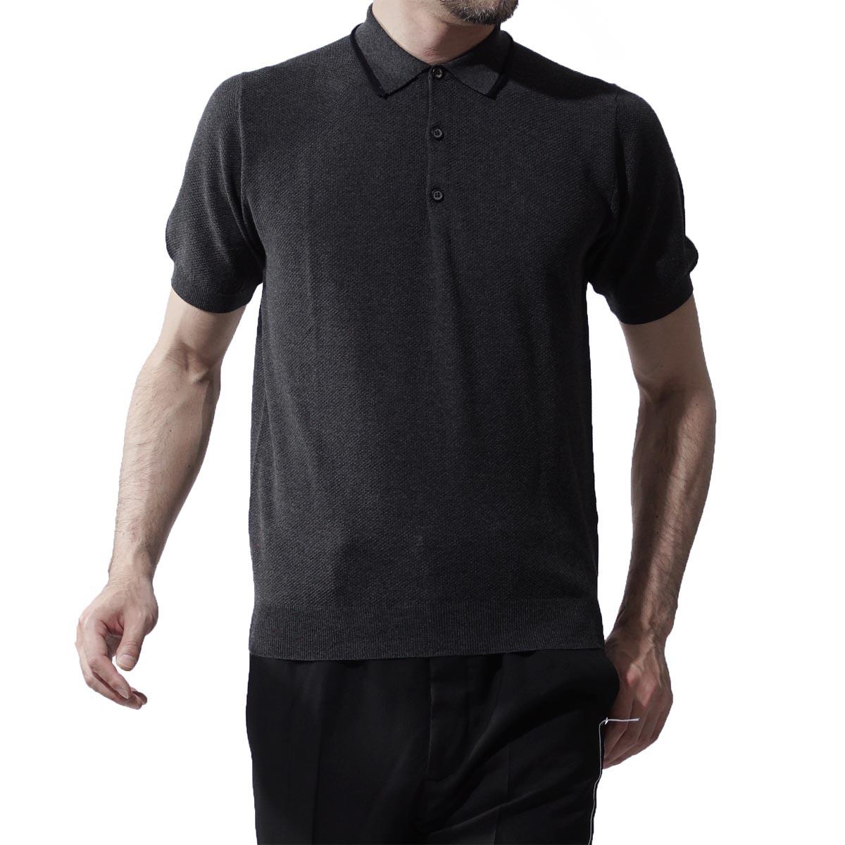 ランバン LANVIN ポロシャツ COTTON AND SILK PIQUE POLO ANTHRACITE グレー系 260 76400 rmpo0012 p15 18 メンズ【ラッピング無料】【返品送料無料】