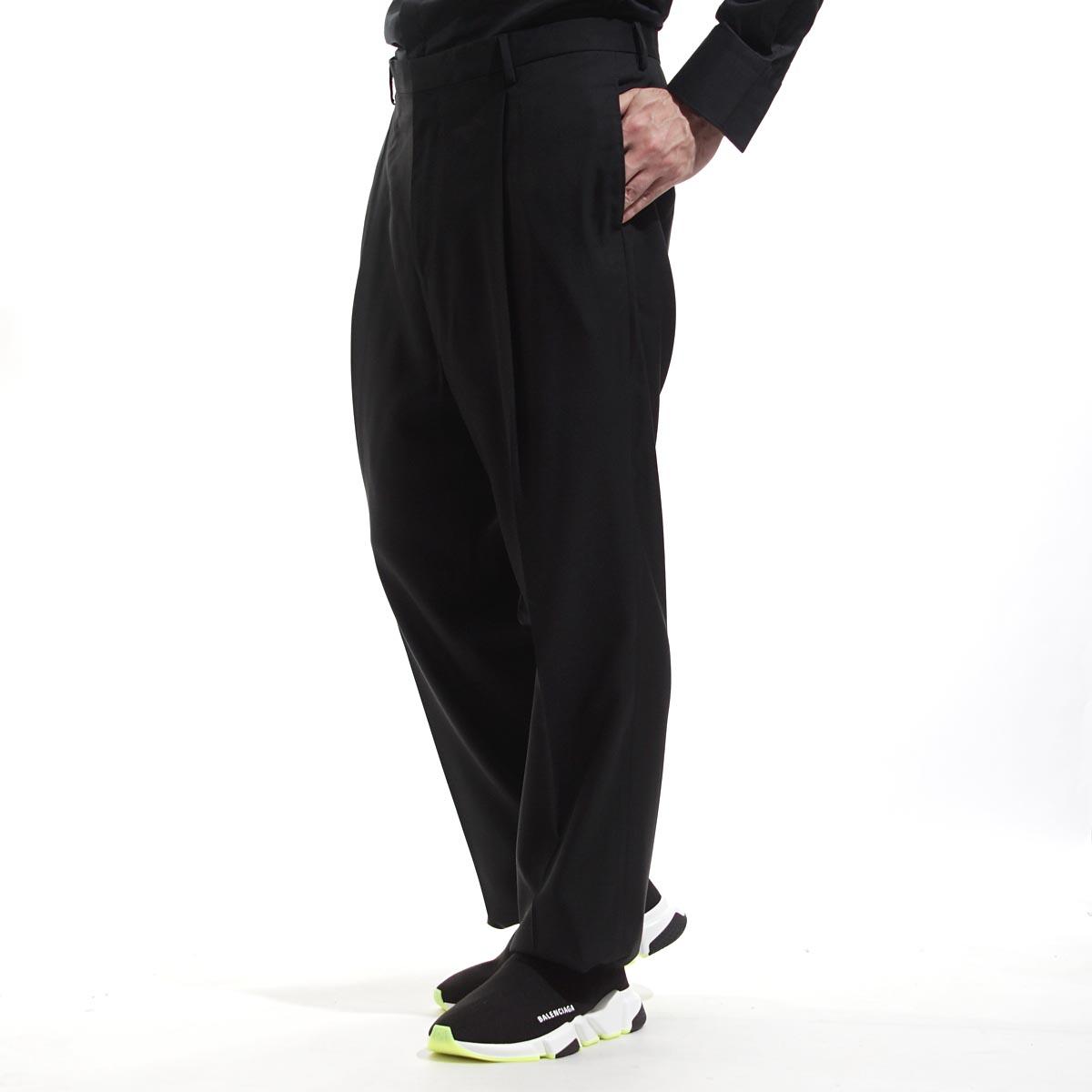 ランバン LANVIN ジップフライパンツ ワンプリーツ DEFILE PANTALON 1 PLI BLACK ブラック系 250 71510 rmtr0029 l00500 p15 10 メンズ【ラッピング無料】【返品送料無料】【あす楽対応_関東】