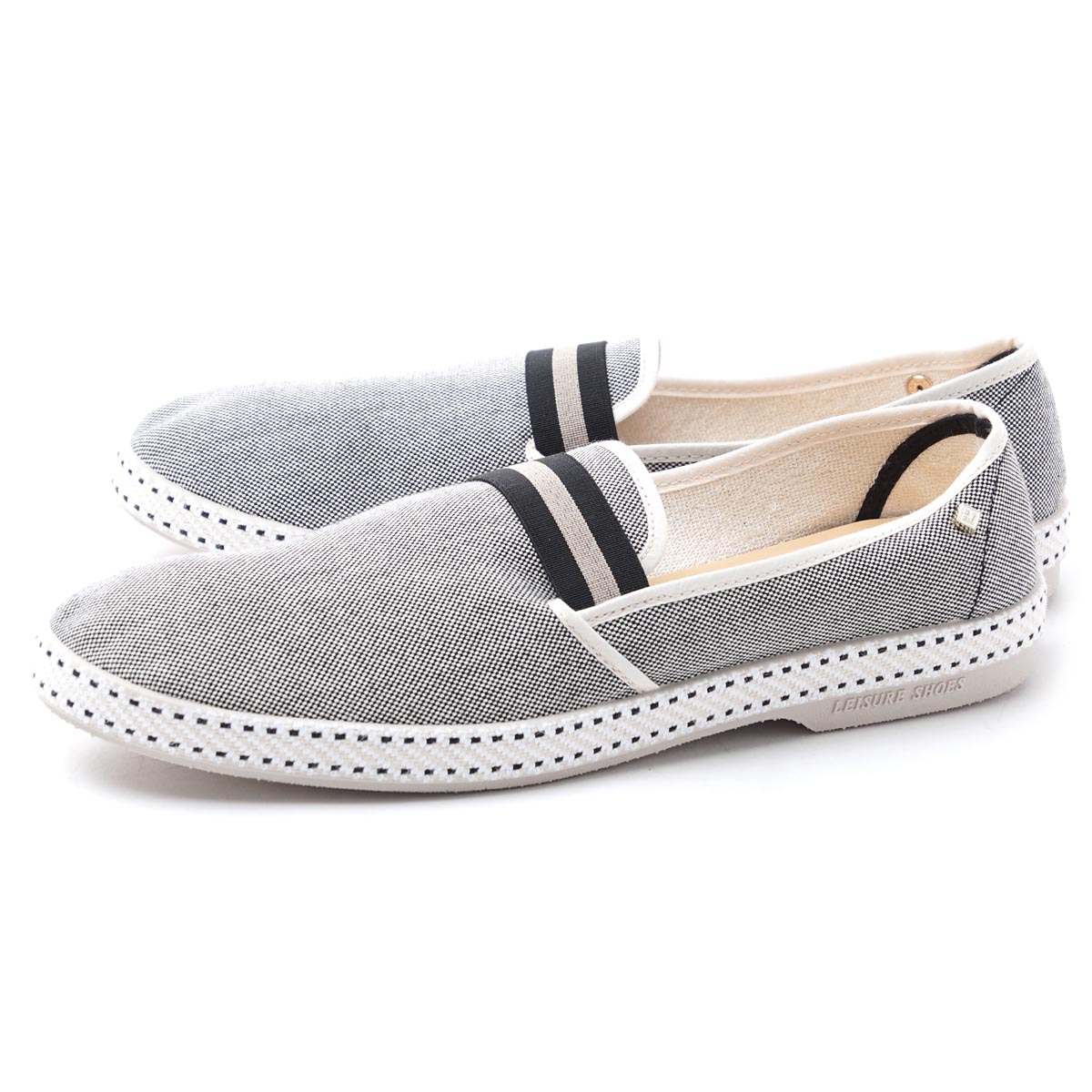 Riviera Rivieras slip on shoes espadrille COLLEGE college YALE gray system college 1191 yale men
