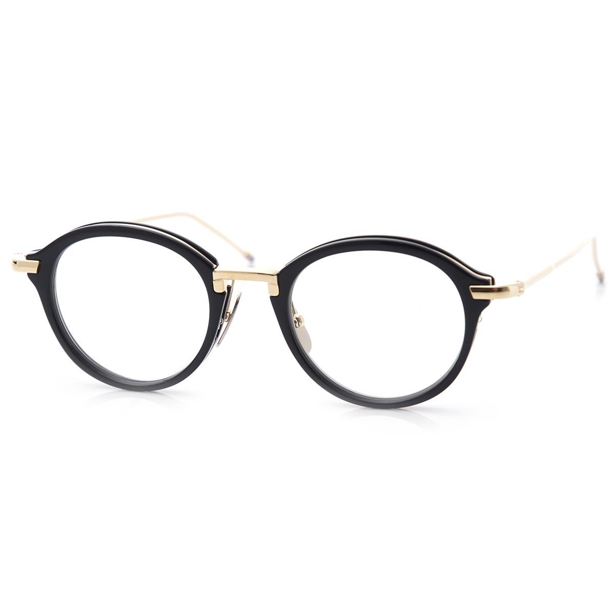 トムブラウン THOM BROWNE. 眼鏡 メガネ ブルー メンズ 黒 tb 011 f nvy gld オーバル【あす楽対応_関東】【返品送料無料】【ラッピング無料】