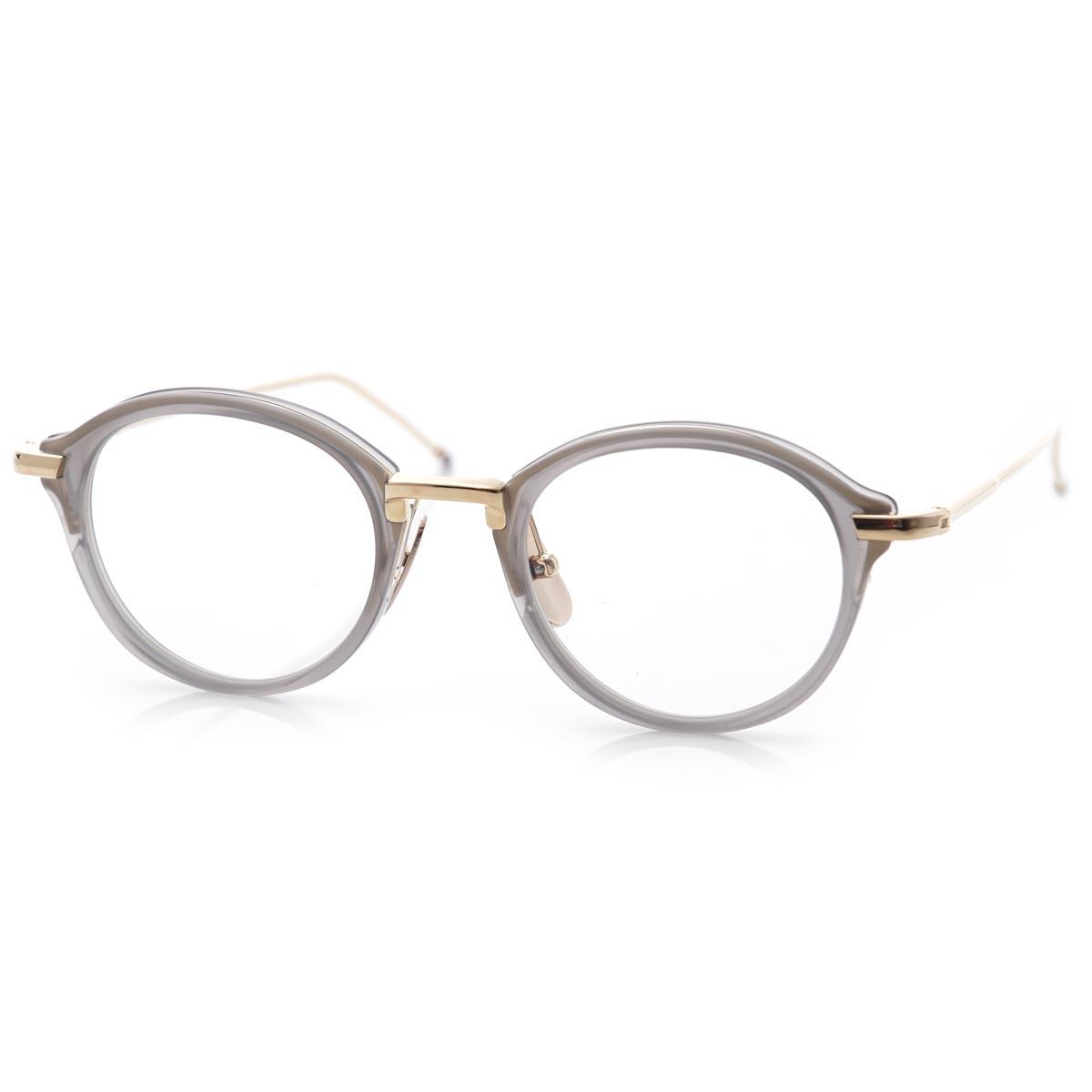 c4b94e0def89 Tom Browne THOM BROWNE. Glasses glasses Oval GREYGOLD gray system tb 011 g  gry gld men