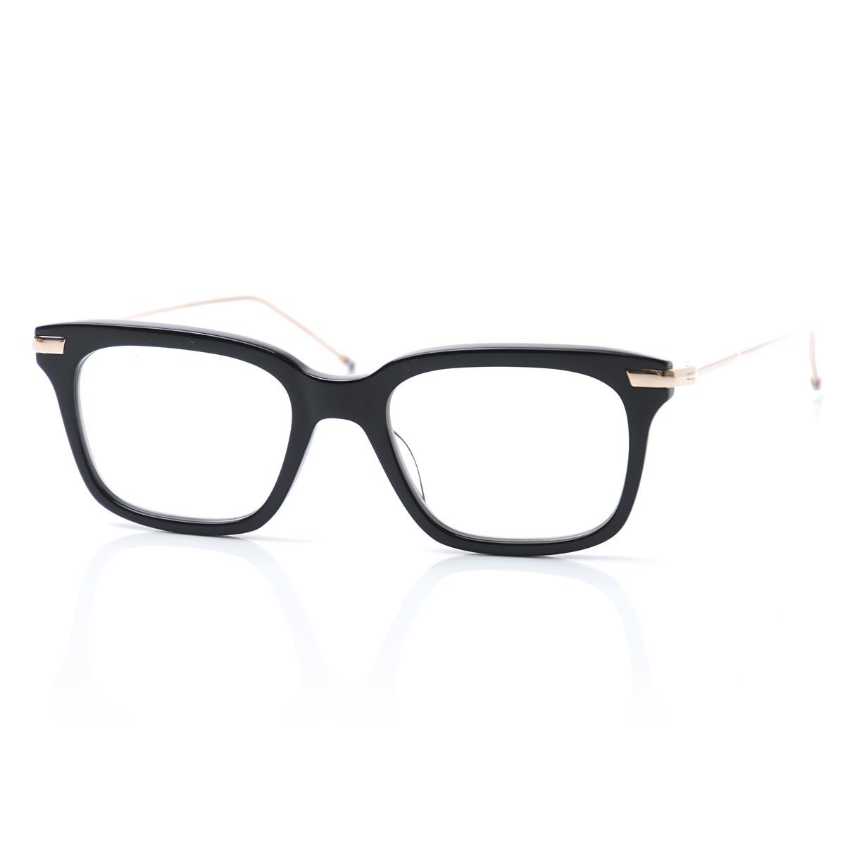 トムブラウン THOM BROWNE. 眼鏡 メガネ ブラック メンズ 黒 tb 701 a blk gld ウェリントン【あす楽対応_関東】【ラッピング無料】【返品送料無料】【180625】
