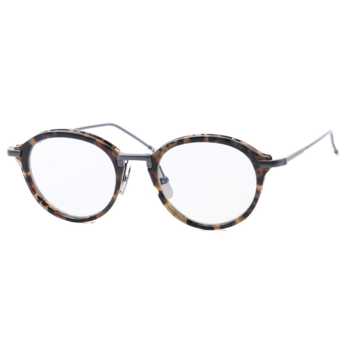 87f56a45ce0 メガネ  ラッピング無料  プレゼント tb 807 c wlt gld 45  dl   返品送料無料  眼鏡 ボストン メンズ brand ギフト   170906  ブラウン THOM BROWNE.
