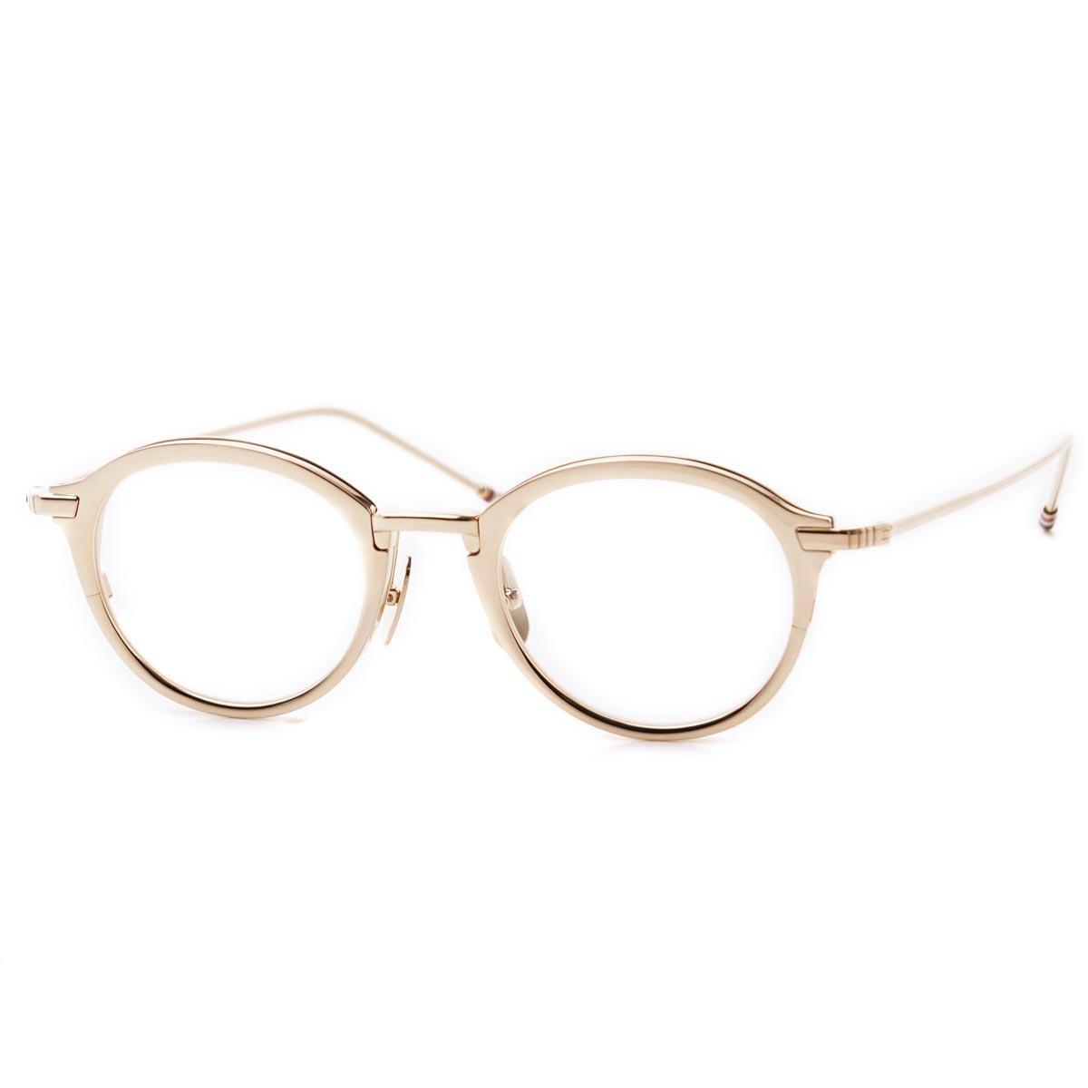 トムブラウン THOM BROWNE. 眼鏡 メガネ めがね ゴールド メンズ デザイン モード おしゃれ ギフト プレゼント tb 110 c gld 48 オーバル【ラッピング無料】【返品送料無料】【180625】【あす楽対応_関東】