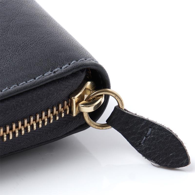 有irubizonte IL BISONTE局拉链长钱包硬币袋的女士皮革书皮套配饰钱包钱包礼物礼物c0919 p 845 C0919