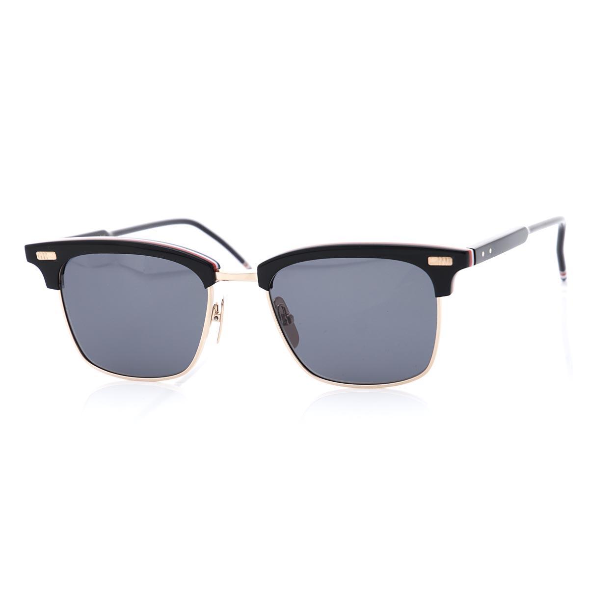 c9329b42059b Tom Browne THOM BROWNE. Sunglasses black men gift present tb 711 a t blk  gld 52 Wellington