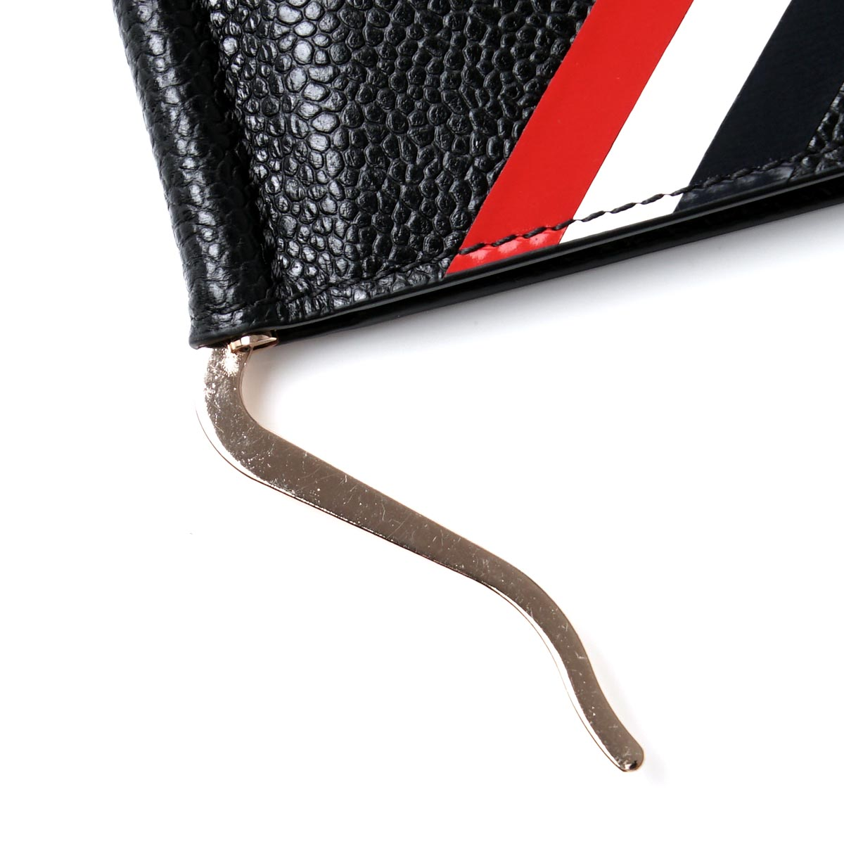 ff26e9d410 ... Tom Browne THOM BROWNE. Folio wallet money clip black men leather gift  present maw042a 00198