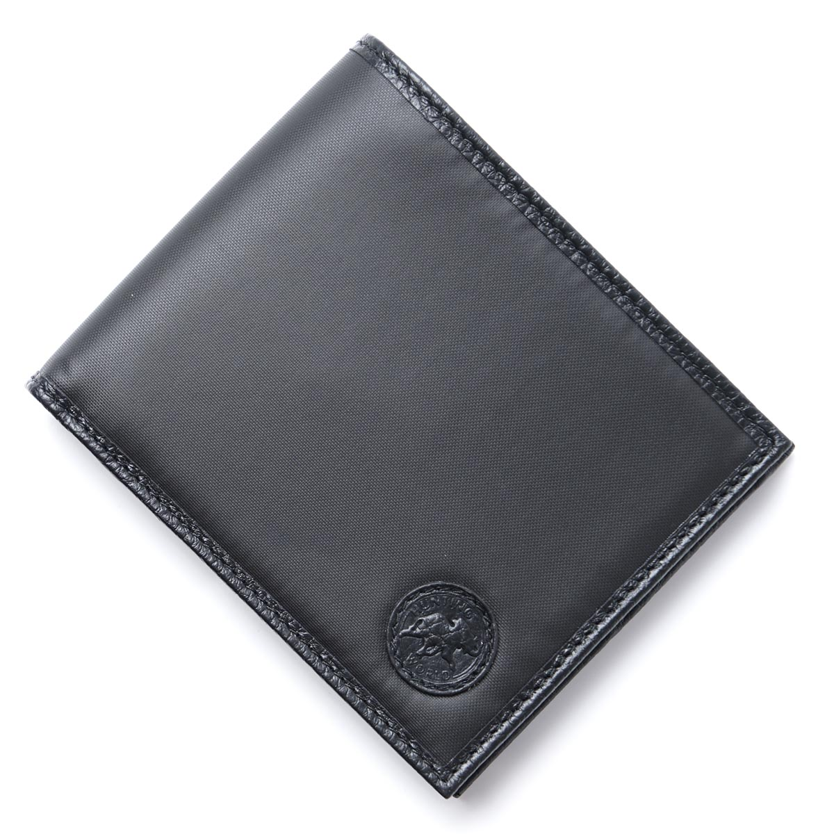 ハンティングワールド HUNTING WORLD 二つ折り 財布 ブラック メンズ ウォレット ギフト プレゼント 320 13a BATTUE ORIGIN【あす楽対応_関東】【返品送料無料】【ラッピング無料】【190326】