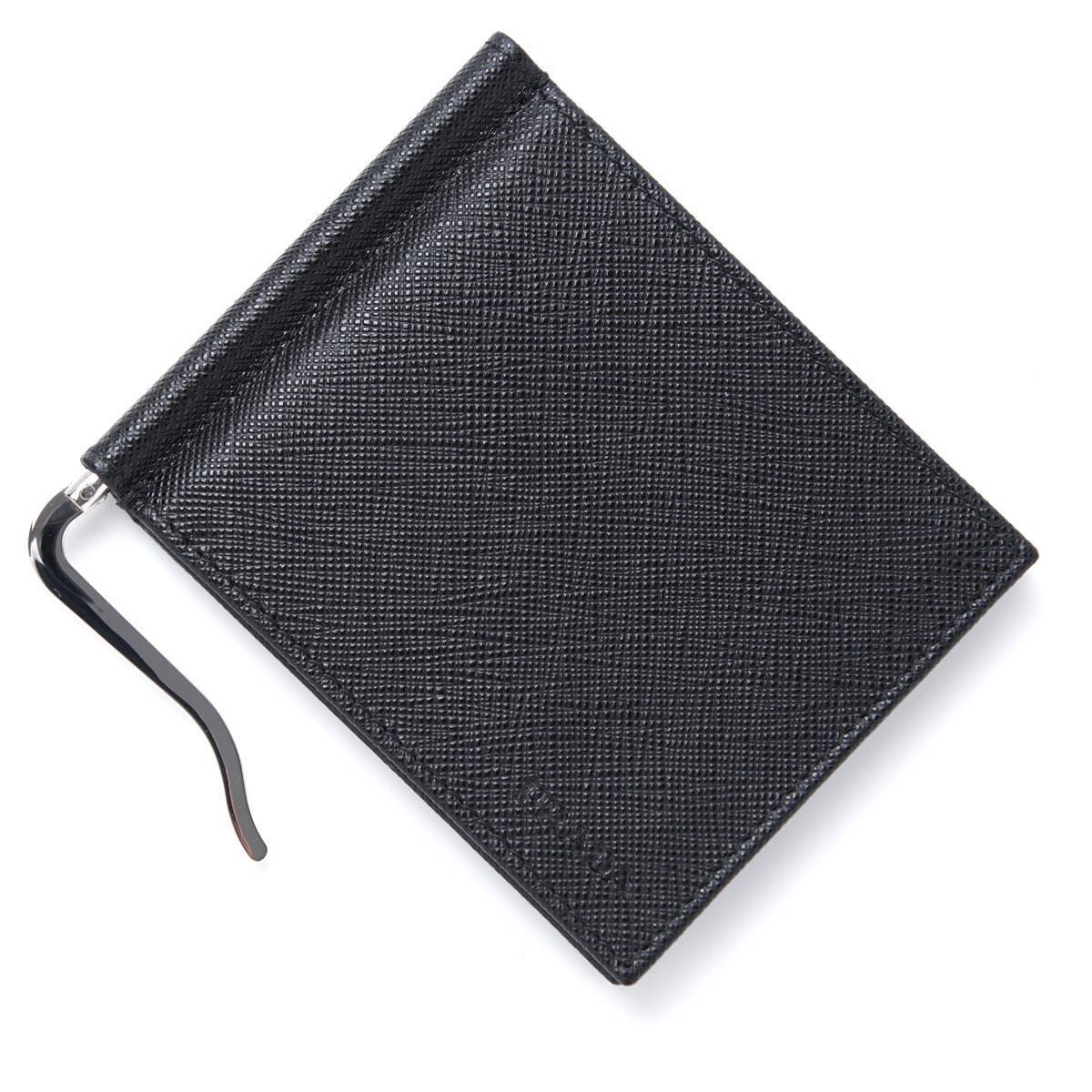プラダ PRADA マネークリップ カードケース ブラック メンズ ウォレット 財布 ギフト プレゼント 2mn077 053 f0002【あす楽対応_関東】【ラッピング無料】【返品送料無料】【180625】【180702】