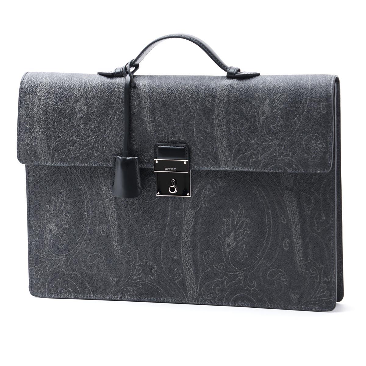 【アウトレット】エトロ ETRO ブリーフケース グレー メンズ ビジネス 鞄 デザイン ファッション 0h791 8007 1【あす楽対応_関東】【返品送料無料】【ラッピング無料】