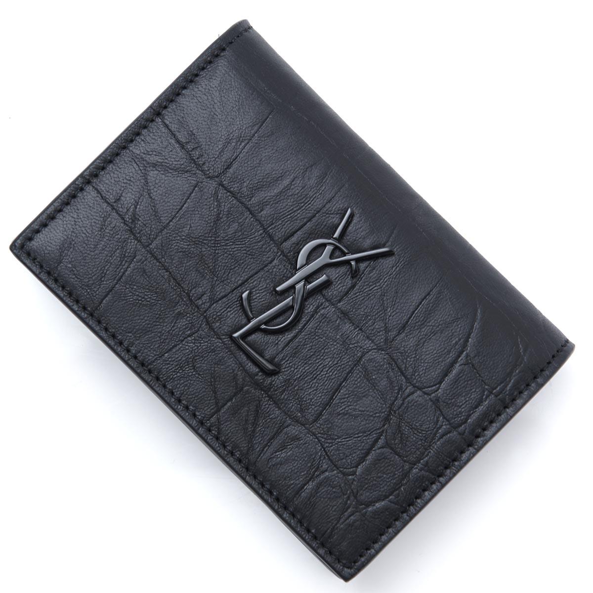サンローランパリ SAINT LAURENT PARIS カードケース 名刺入れ ブラック メンズ ギフト プレゼント 529887 c9h0u 1000【ラッピング無料】【返品送料無料】【180809】【あす楽対応_関東】