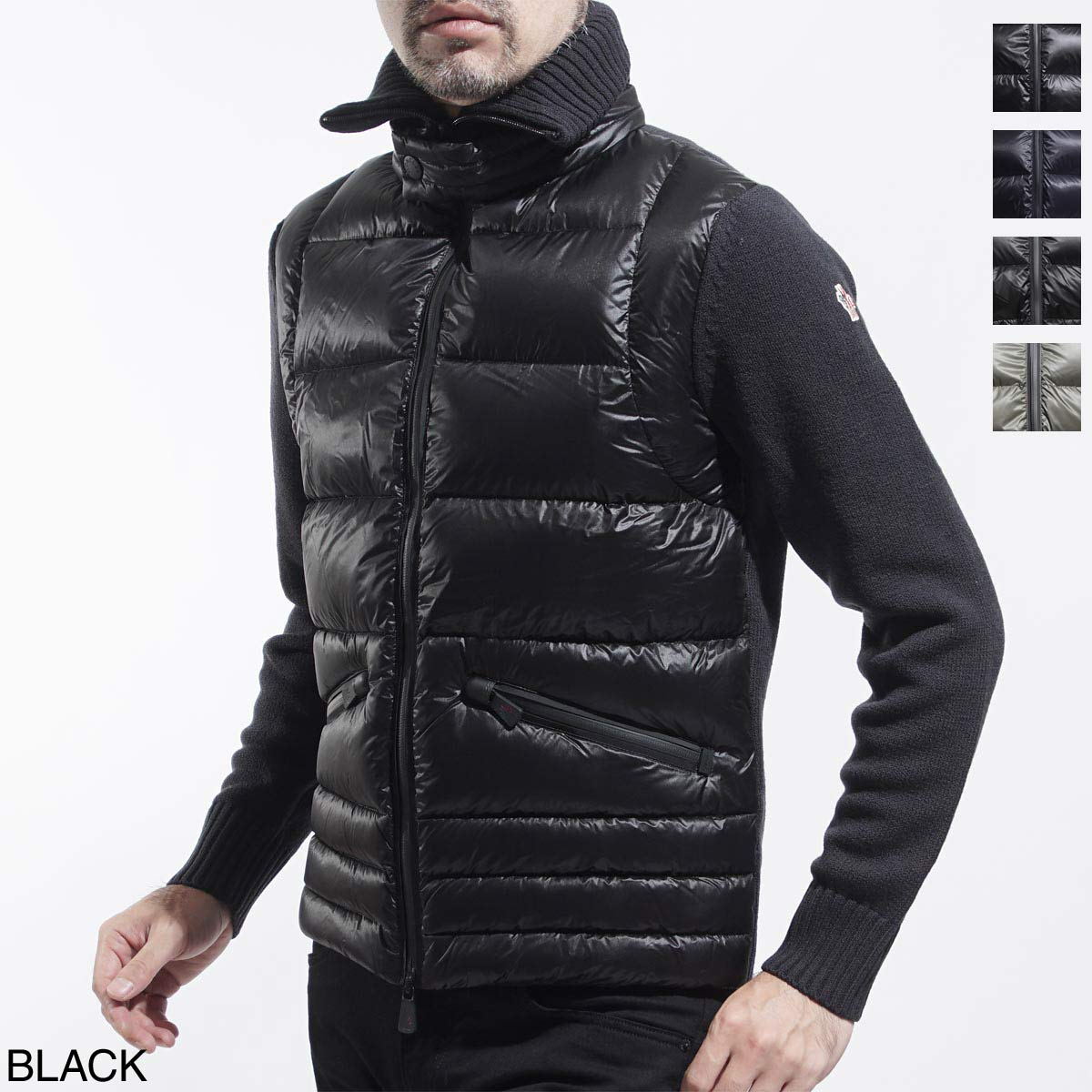 Monk rail MONCLER knit combination down jacket men down outer winter clothing blouson 9421600 94778 989 GRENOBLE Grenoble