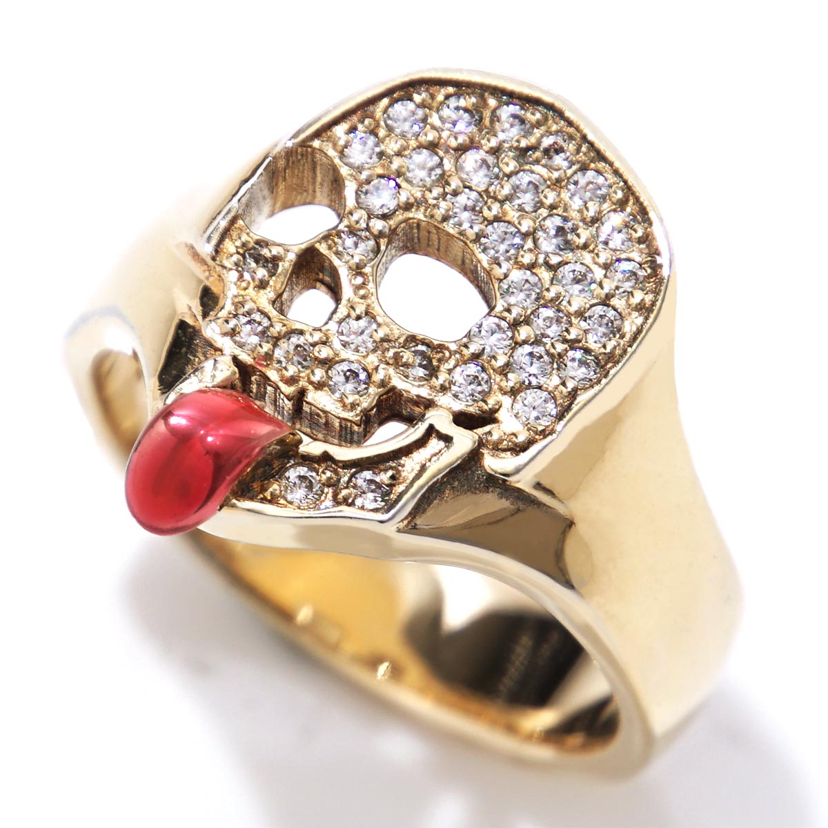 ガーデル GARDEL リング 指輪 メンズ レディース アクセサリー ジュエリー ギフト プレゼント gdr067 k18yg dia RAPTURE SKULL【返品交換不可】【ラッピング無料】【181201】