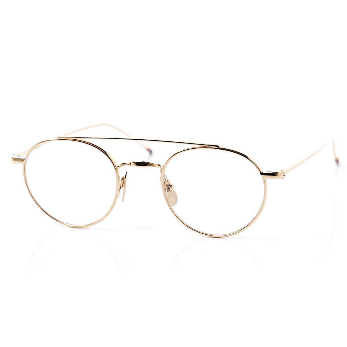 トムブラウン THOM BROWNE. 眼鏡 メガネ めがね ゴールド メンズ アイウェア tb 101 b gld 49 シャイニー【あす楽対応_関東】【返品送料無料】【ラッピング無料】【190215】