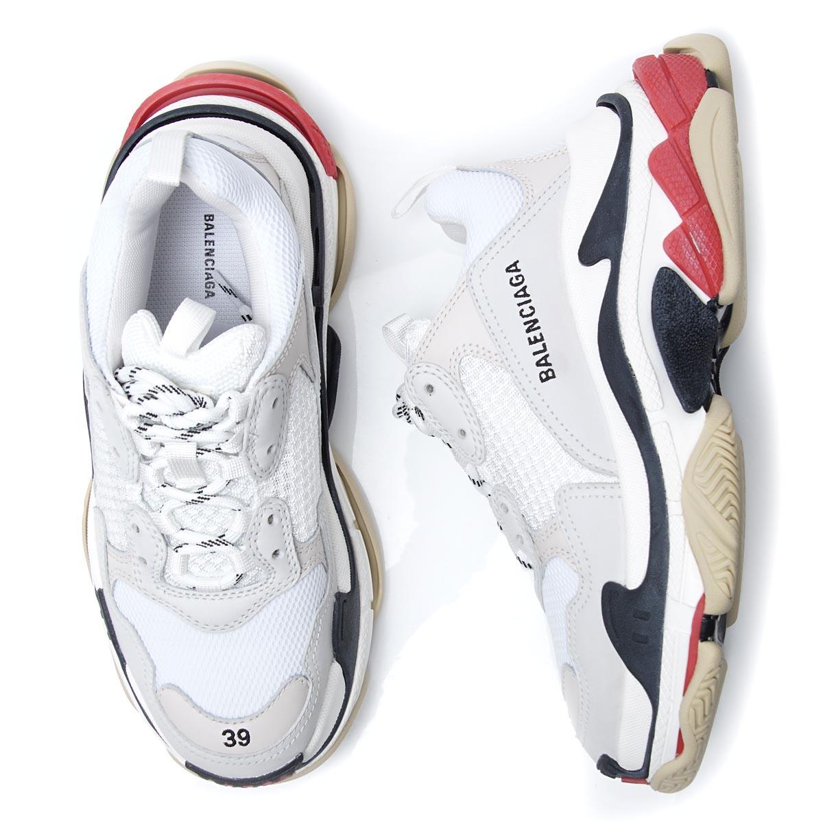 バレンシアガ BALENCIAGA スニーカー ホワイト メンズ シューズ 靴 カジュアル 大きいサイズあり 533882 w09e1 9000 TRIPLE S トリプルS【あす楽対応_関東】【返品送料無料】【ラッピング無料】