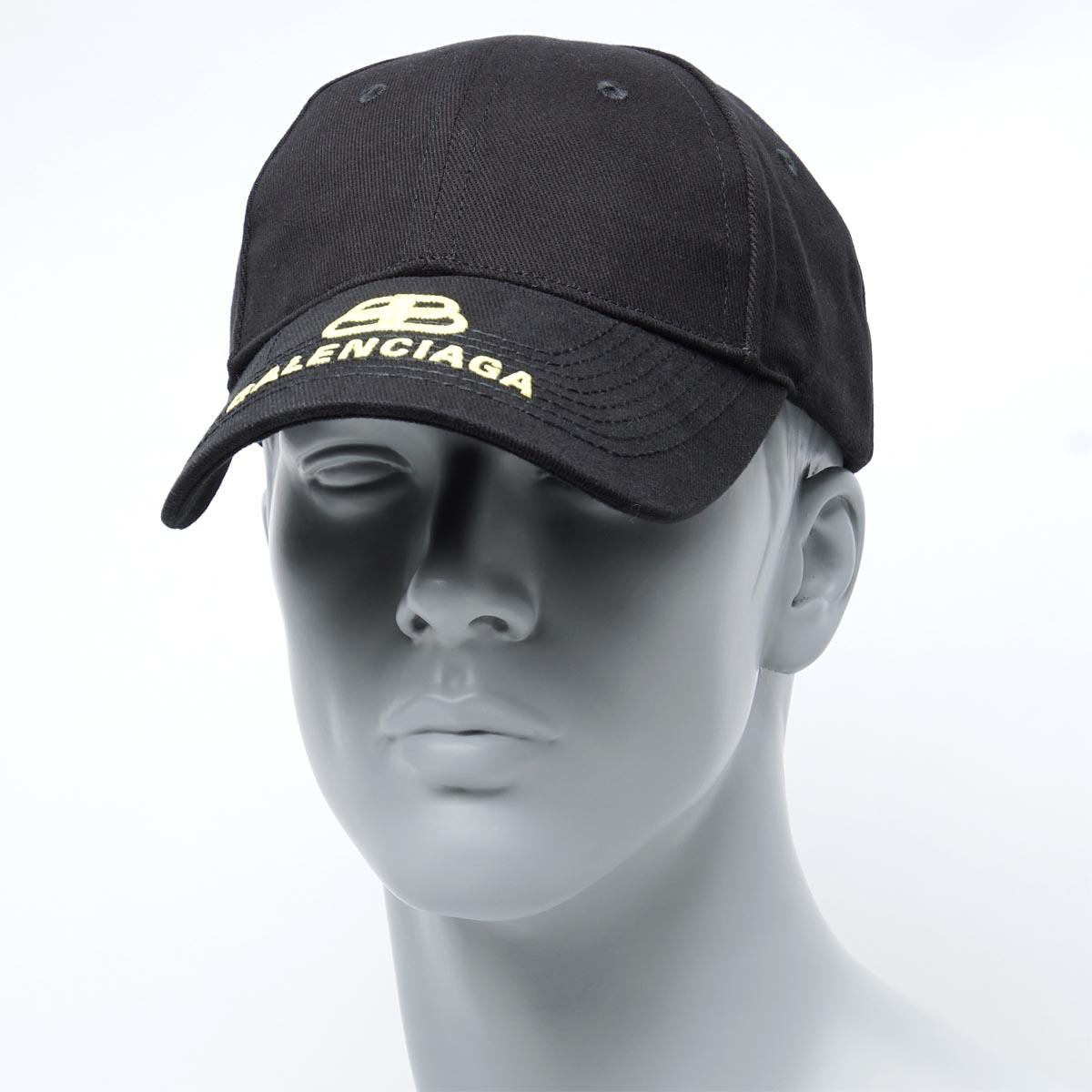 バレンシアガ BALENCIAGA ベースボールキャップ ブラック メンズ 帽子 スポーツ 野球 カジュアル 577548 310b2 1075 BB CAP【返品送料無料】【ラッピング無料】【190626】【あす楽対応_関東】