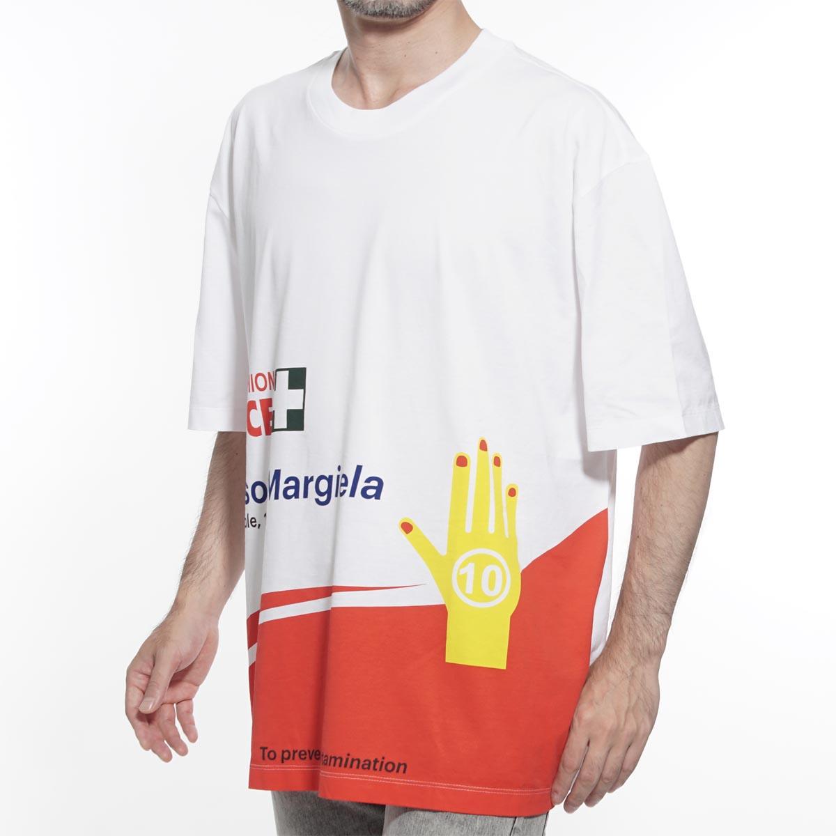 メゾンマルジェラ Maison Margiela ラウンドネック Tシャツ ホワイト メンズ カジュアル トップス インナー s50gc0565 s22816 100 10 男性のためのコレクション 【返品送料無料】【ラッピング無料】【190711】【あす楽対応_関東】